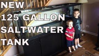 Saltwater aquarium setup: new marineland reef ready 125 gallon saltwater tank