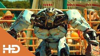 Робот Эмбуш против Быка «Чёрный Гром» ► Живая сталь (2011) Лучшие Моменты \ Боевые Роботы \ ТОП