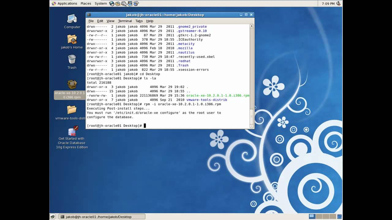 Install Oracle 10G Express for Linux on CentOS 5 5 64bit under Vmware  Workstation 7 1