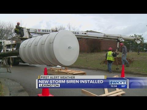 New severe weather siren installed in Lexington