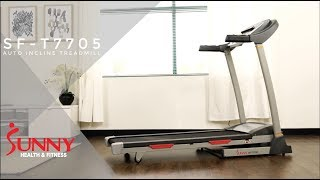 SF-T7705 Treadmill with Auto Incline by Sunny Health and Fitness