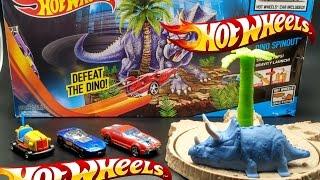 Mainan Mobil Hot Wheels - Meluncurkan Dan Menabrak Dinosaurus - Didi Land #2
