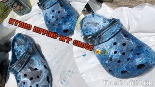 hydro dipping my crocs 😱🐊
