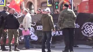 Смотреть видео 25. Первомайская демонстрация 01.05.2019, СПб, Невский проспект онлайн