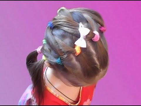 Красивая прическа из резинок на средние и длинные волосы на каждый день!