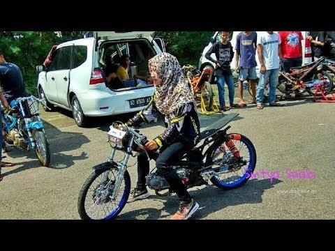 Rina Somey,,! JOKI Wanita BERJILBAB Ikut BALAP Gaspoll Drag Bike 201m