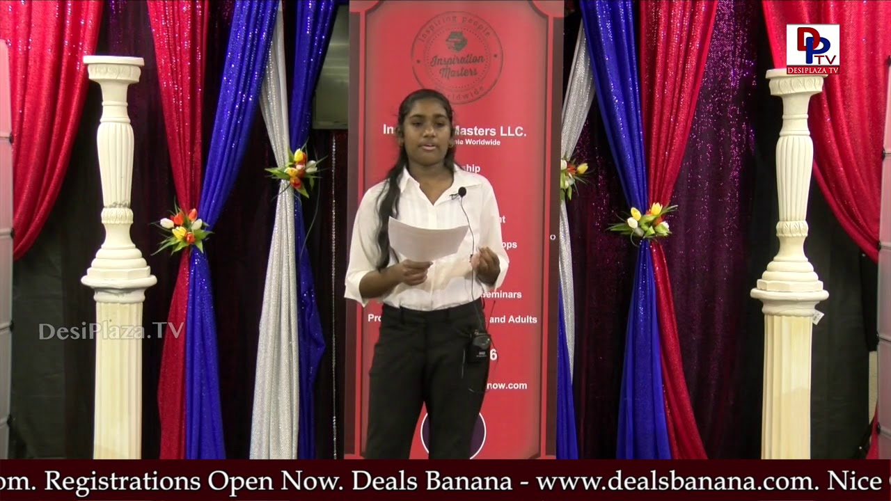 "Girl talks on the topic ""Magic"" at Talking Bee - Public Speaking Competitions 2018 