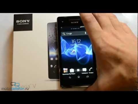 Распаковка Sony Xperia V (LT25i) (unboxing): комплект, включение
