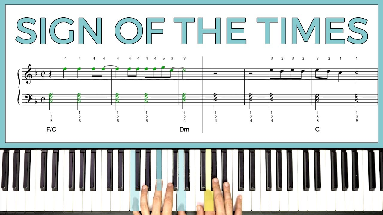 sign of the times piano pdf