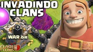 IMPRESSIONANTE!! INVADINDO CLANS DOS INSCRITOS NO CLASH OF CLANS