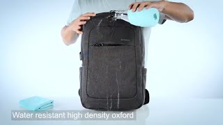 kopack Slim Business Laptop Backpack USB Anti Thief/Tear Water Resistant Travel Computer Backpack