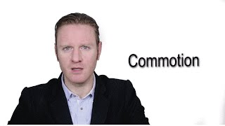 Commotion - Meaning | Pronunciation || Word Wor(l)d - Audio Video Dictionary