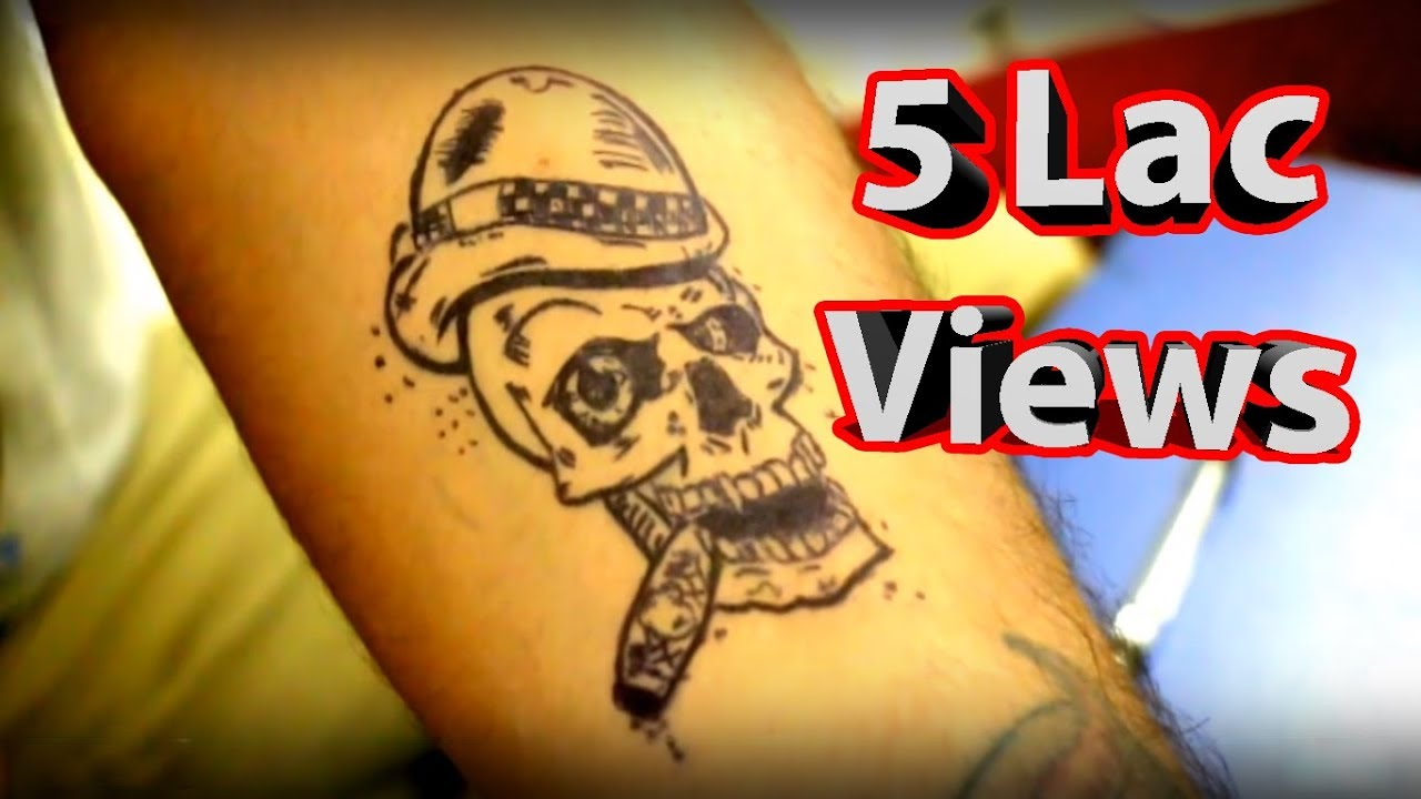 How to make temporary tattoo at home - YouTube