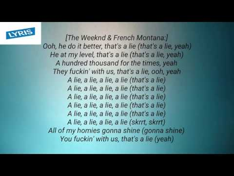 French Montana - A Lie ft. The Weeknd, Max B   lyrics