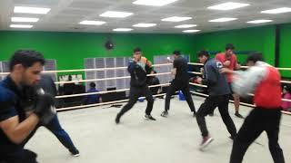 Suresh Bhettan boxing coach with HPU boxing team
