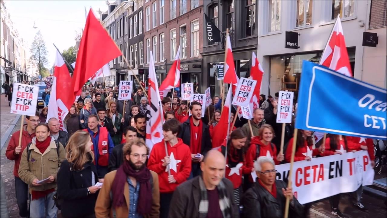 Grote demonstratie tegen handelsverdragen tipp en ceta in for Demonstratie amsterdam