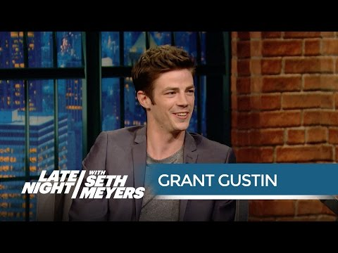 The Flash Star Grant Gustin Got Turned Away at a ComicCon Party  Late Night with Seth Meyers