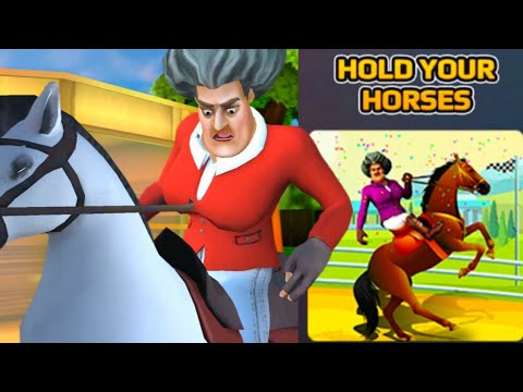SCARY TEACHER 3D - Hold Your Horses - SuperSportsmania [Android - ios] Gameplay