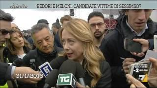 Bedori e Meloni, candidate vittime di sessismo?