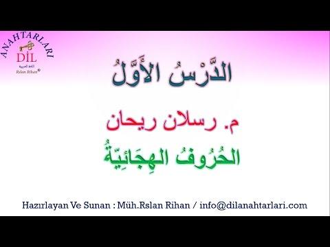 اللغة العربية: الدّرسُ الأولُ ( الحُروفُ الهيجائيّة)