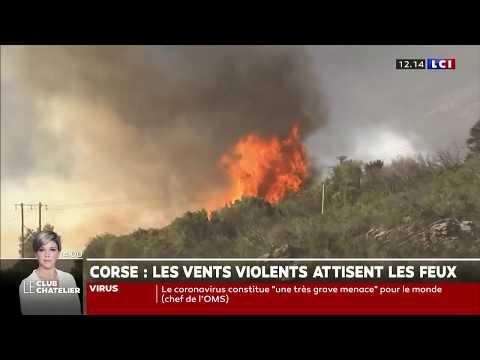Tempête Ciara : Les Vents Violents Attisent Les Feux En Corse