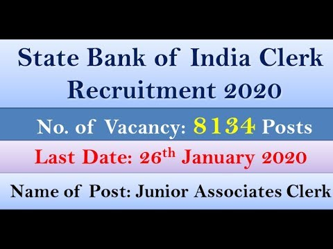 state bank of india recruitment clerk 2018