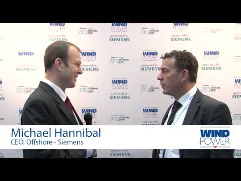 Michael Hannibal, from Siemens, interviewed at Offshore Wind 2013