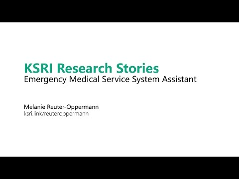 KSRI Research Stories: Emergency Medical Service System Assistant