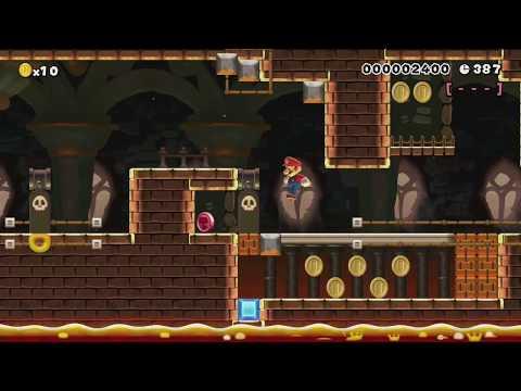 WORLD 6-5 ~スライドじかけの キラーとりで~ by シュン - Super Mario Maker - No Commentary