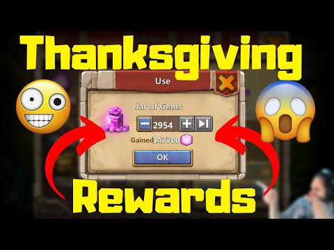 Crazy Thanksgiving Rewards | 147k Gems | Castle Clash