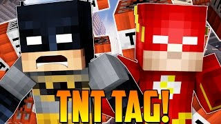 Minecraft: Batman & The Flash Tag with TNT! (Minecraft Mini Game Roleplay)