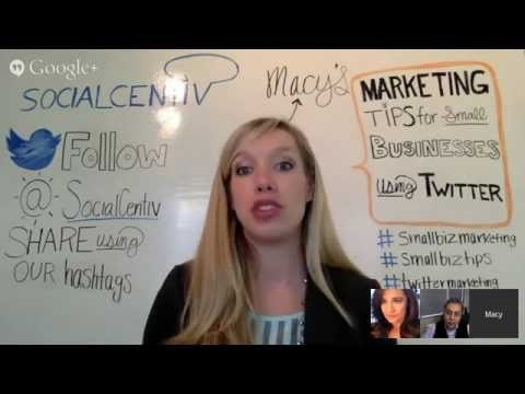 Marketing Tips for Small Business using Twitter - #SocialCentiv