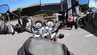 バイク 押しがけ VTR250FI バッテリーあがり