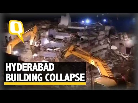 The Quint| Hyderabad Building Collapse: At Least 3 Dead, Many Fear Trapped