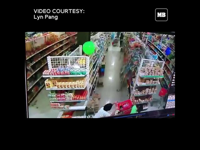 CCTV footage during the 6.4 magnitude earthquake at ER Supermall, Davao Oriental