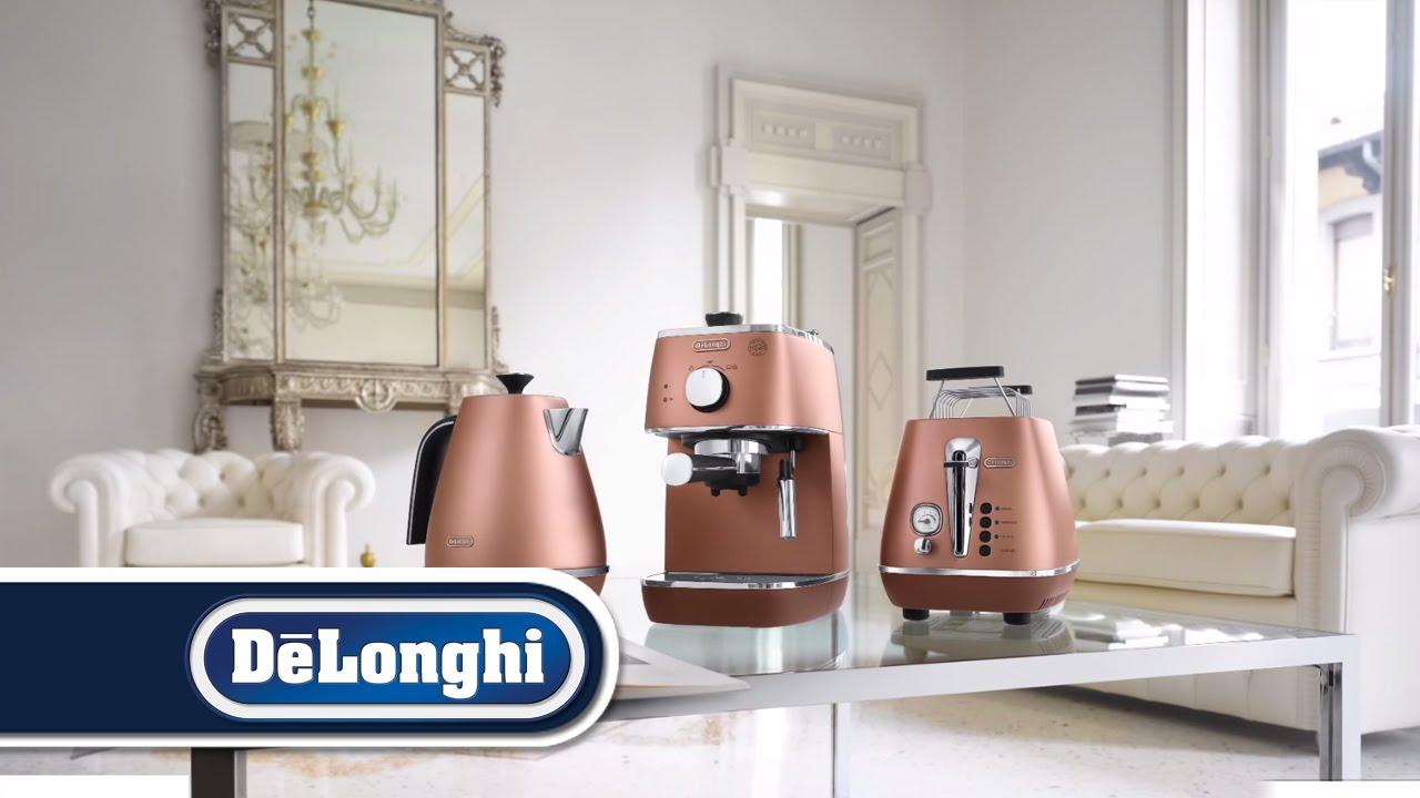 Distinta breakfast collection by de 39 longhi youtube for Stufa catalitica de longhi