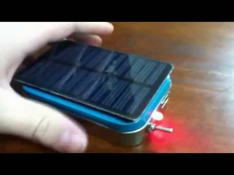 Altoids solar powered USB charger