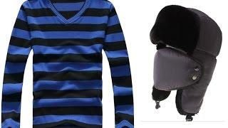 Шапка ушанка и мужской свитер из Китая (aliexpress)(Шапка за 6,99$: ..., 2015-12-06T10:13:13.000Z)