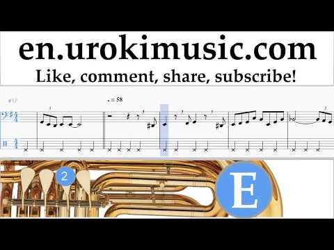 How to Play Tuba The Pink Panther - Theme Song Tabs Part#2 um-i352