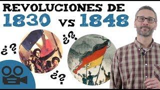 Diferencias entre la revolución de 1830 y la de 1848