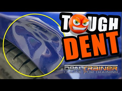 Tough Paintlesss Dent Repair Tutorial | PDR Training BMW Z4