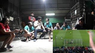 บรรยากาศดูบอลบุรีรัมย์ เจอ อุบล ดูกับทีมงานตอนท้ายดูบอลโลกต่อ