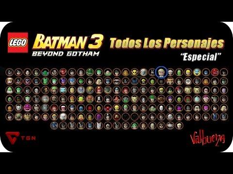 LEGO Batman 3 Más Allá de Gotham - Todos los Personajes - HD 720p