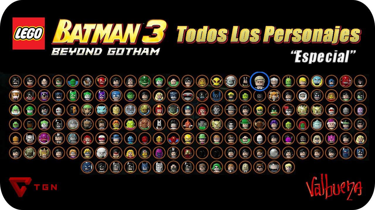 Lego Batman 3 Mas Alla De Gotham Todos Los Personajes Hd 720p