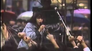 """REBECCA (レベッカ) """"Private Heroine"""" 1986/11/01 早稲田大学にて."""