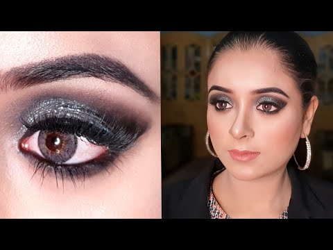 glitter smokey eye makeup tutorial stepstep for