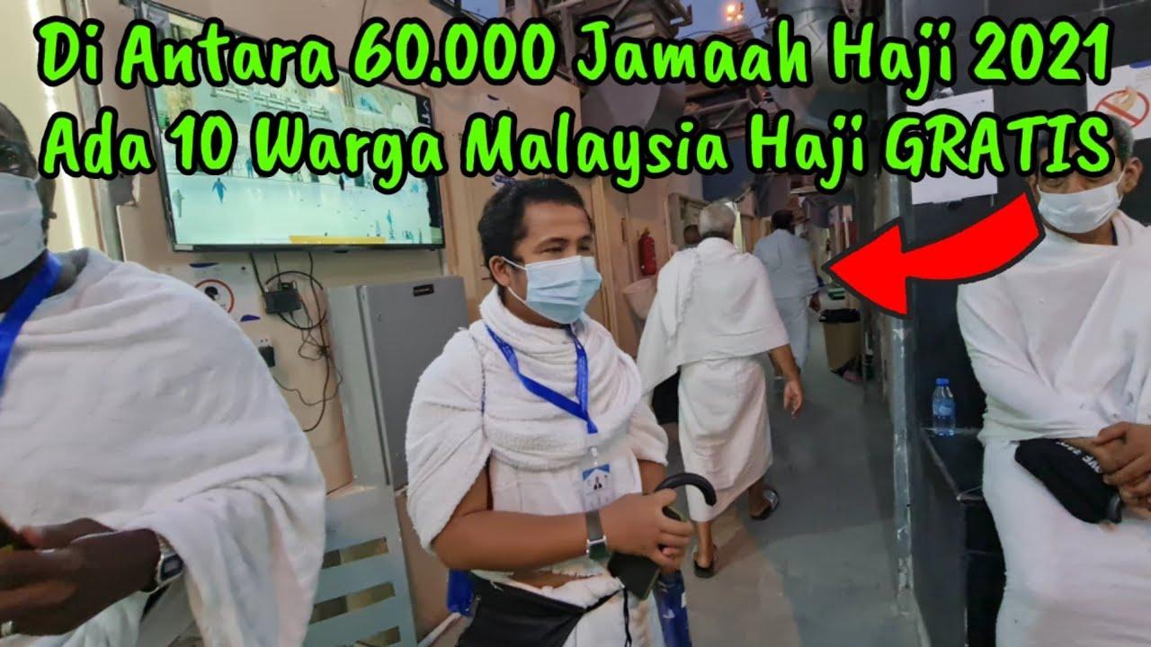 MASYA ALLAH!! HAJI 2021 ADA 10 WARGA MALAYSIA DAPAT TUNAIKAN HAJI FREE