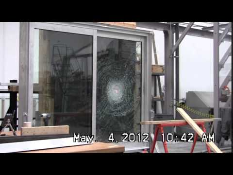 Hurricane Resistant Glass Door Test Video Max Slider