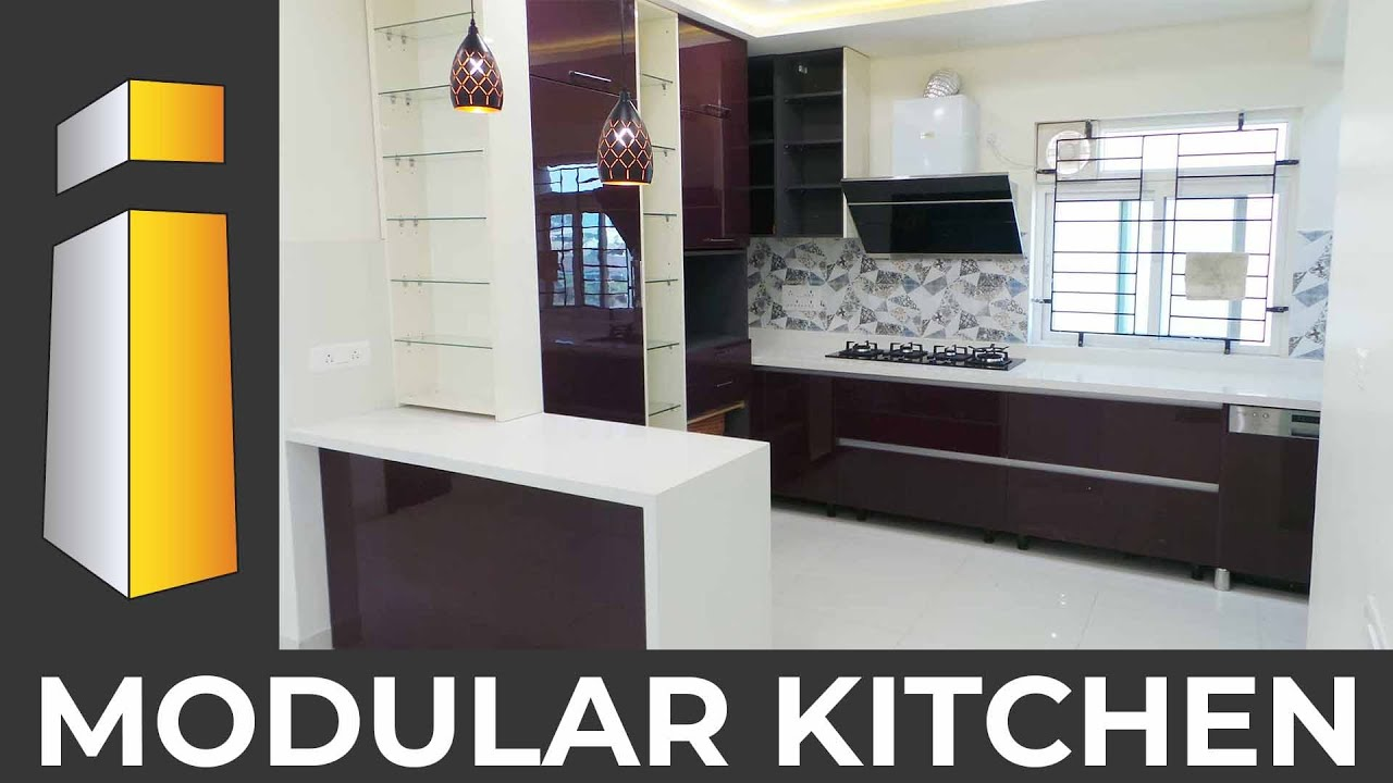 Latest Design Ideas For Modular Kitchen With Island For 2bhk Flat I Build Interiors Mysore Youtube