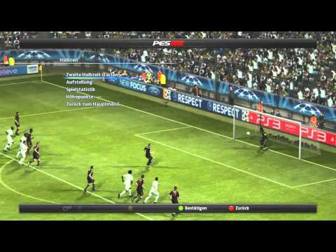 PES 2012| Champions League: Bayern München vs. Olympic Marseille |Hinspiel -german live Commentary-